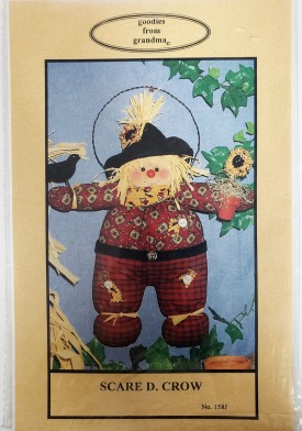 Vintage Scarecrow Doll Pattern Goodies From Grandma Scare D. Crow #158J