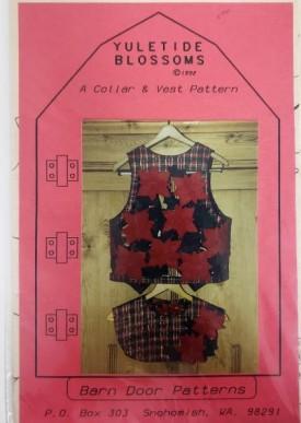 Vintage Collar & Vest Pattern Yuletide Blossoms Sizes Med/Lg