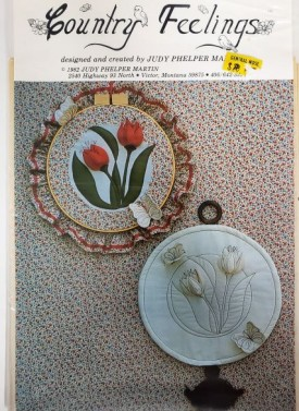 Vintage Quilting Sewing Pattern Tulip Wall Hangings Country Feelings, 1982