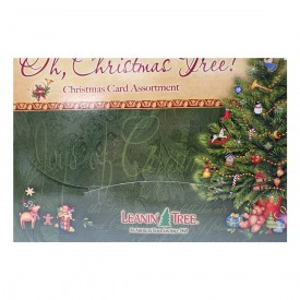 Leanin Tree Oh, Christmas Tree Christmas Card Assortment 20 Cards & 22 Envelopes