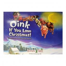 Leanin Tree Oink If You Love Christmas Card Assortment 20 Cards & 22 Envelopes