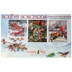 Leanin Tree Holiday Songbirds by Greg Giordano Card Assortment 20 Cards & 22 Envelopes