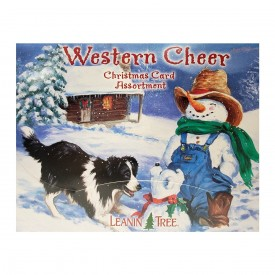 Leanin Tree Western Cheer Christmas Card Assortment 20 Cards & 22 Envelopes