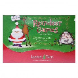 Leanin Tree Reindeer Games by Leslie Moak Murray Funny Christmas Card Assortment 20 Cards & 22 Envelopes
