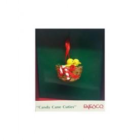 Vintage 1989 Enesco Small Wonders Miniature Ornament - Candy Cane Cuties