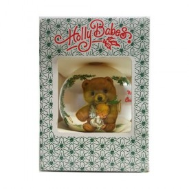 Vintage Ruth Morehead Holly Babes Satin Ornament