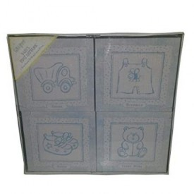C.R. Gibson Thank Heaven For Little Boys Set of Four Ready-To-Hang Canvas Prints