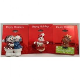 Kohls Happy Holidays Christmas Pins Set of 3 Snowman Reindeer