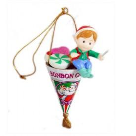 Vintage Matrix Christmas Traditions Bonbon Candy Ornament