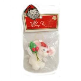 Vintage Kris Kringle Inc. Plush Hand Crafted Mouse Ornament