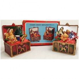 Christmas Around the World Teddy Chest Ornaments Set of 2 Stock No 54-164