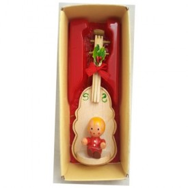 Vintage Country Antique Ornament Cello/Double Bass Child by Russ Berrie & Co