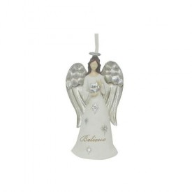 St. Nicholas Square 2014 Believe Peace And Love Angel Ornament