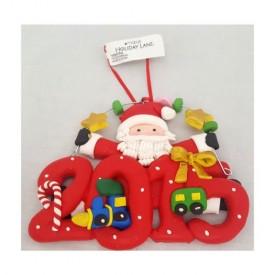 Macys Holiday Lane Childs Clay Santa 2015 Polyresin Ornament