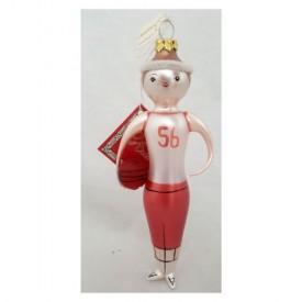 Beaux Arts Department 56 Basketball Player Glass Christmas Ornament 6