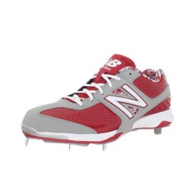 New Balance Mens MB4040 Metal Low-Cut Cleat Grey/Red Size 16