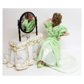 Danbury Mint Porcelain Dolls, Norman Rockwell Cover Girl Collection, Going Out