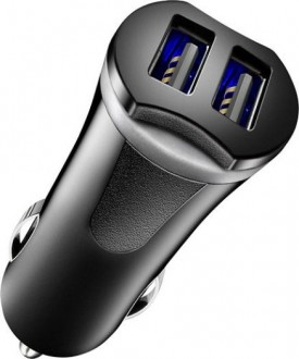 Insignia™ - 17W Vehicle Charger with 2 USB Ports - Black
