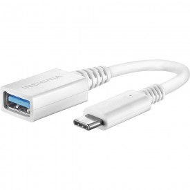 Insignia - 5.9 USB Type-C-to-USB 3.0 Type-A Cable - White