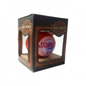 2000 Harley Davidson USA Glass Ball Ornament Red