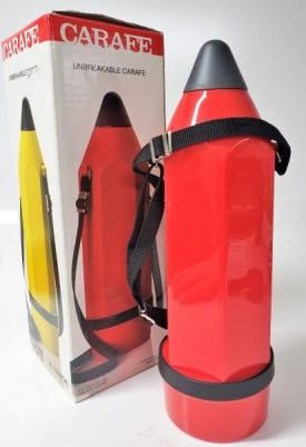 A.K. Das & Co. Le Crayon Unbreakable Carafe .75 Liter (Red)