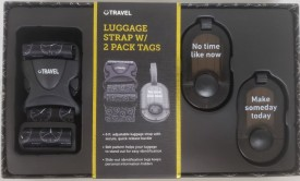 Atomi Inc. Time Luggage Strap & ID Tags Travel Set - No Time Like Now - Make Someday Today