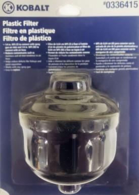 Kobalt Plastic Air Filter For Paint Spray Gun #0336415