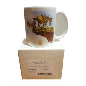 Leanin Tree Ceramic 12oz Coffee Mug Prospector Horse Desert Sometimes Life is Just a Kick in the Pants! Morning Coffee Funny Gift Mugs (MGW56172)
