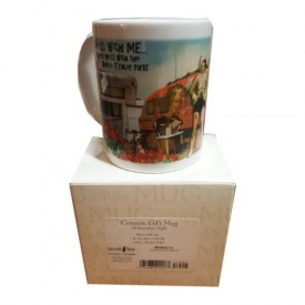Leanin Tree Ceramic 12oz Coffee Mug Trailer Park Cowgirl Mess With Me & you Mess With The Whole Trailer Park! Morning Coffee Funny Gift Mugs (MGW56175)