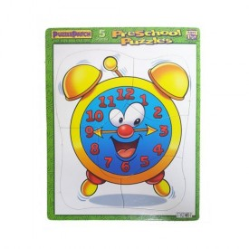 Puzzle Patch Preschool Frame Tray Puzzle 5 Piece - Clock