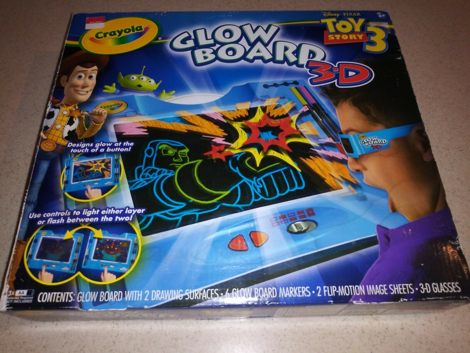 Download TOY STORY 3 Crayola Glow Board 3D Coloring & Drawing Board Activity Set Kit | Nokomis Bookstore ...