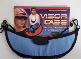 Pro Shade 3-in-1 Sport Visor - Changes From Visor to Eyewear Case in Seconds! (Light Blue)