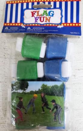 Flag Fun 16 Flag Football Belts (8 Blue, 8 Green)