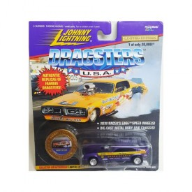 Johnny Lightning Dragsters U.S.A. 1997 Barry Setzer 1:64 Scale Replica Funny Car and Coin