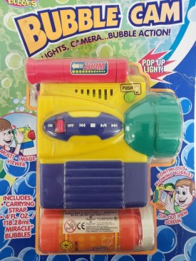 2002 Imperial Toys Battery Operated Bubble Cam With 4 oz Miracle Bubbles