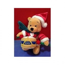 Pooh Drummer 2001 Christmas - Disney Collectible Collectible Mini Bean Bag Plush 8
