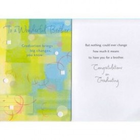 Graduation Greeting Card For Brother [Office Product]