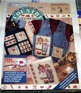 Daisy Kingdom Country Cut Outs Raggedy Pals No Sew Applique #C123-1681-010