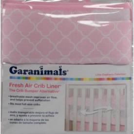 Garanimals Girl Fresh Air Crib Liner Bumper Alternative Little Elephants Collection