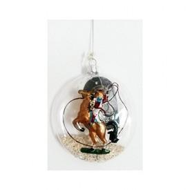 GKI Bethlehem Glass Cowgirl Western Ornament