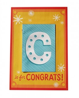 Hallmark Extra Large Greeting Card C Is for Congrats