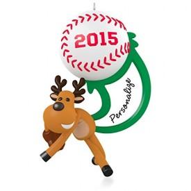 Star Slugger Personalized Baseball Softball Ornament 2015 Hallmark
