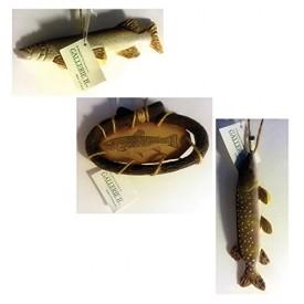 Gallerie II Rustic Lake Cabin Decor Wooden Fish Ornaments Lot of 3