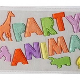 Party Decor Gel Clings Party Animal 16 Piece