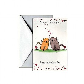 Valentines Day Greeting Card - Yourre Just Purrfect [Office Product]