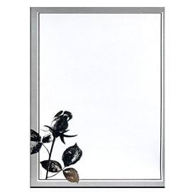 100 Pack: I Do Elegant Silver Rose Wedding Invitations Kit w/Coordinating Seals