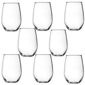 Anchor Hocking 8-Pack Vienna Stemless White Wine Beverage Set, 15-Ounce