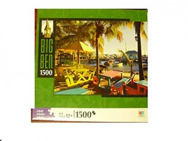 Milton Bradley Puzzle Big Ben Great Bay Beach, Marina Philipsburg, St. Maarten