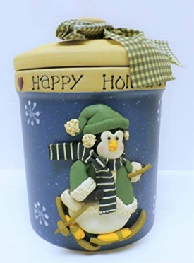 Crofton Brown With White Specks Snowman Cookie Jar