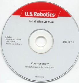 3Com U.S. Robotics Installation Connections CD-ROM NAM SP 6.4